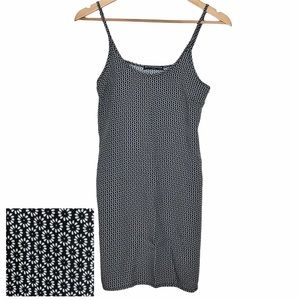 Brandy Melville Daisy Print Long Tank Top Black OS